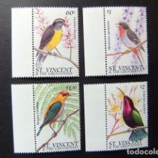 Sellos: ST. VINCENT THE GRENADINES 1996 FAUNE OISEAUX YVERT 2879 / 2882 ** MNH. Lote 114083759