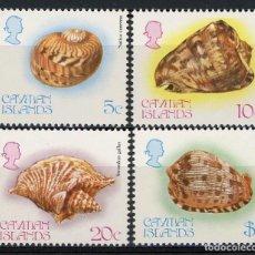 Sellos: ISLAS CAIMAN 1983 IVERT 509/12 *** FAUNA MARINA - CONCHAS (II) . Lote 114921023