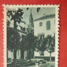 Sellos: SELLO - VIÑETA - SEVILLA - PLAZA DOÑA ELVIRA - ORIGINALES SERRANO -. Lote 117332099