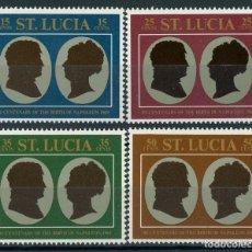 Sellos: SANTA LUCIA 1969 IVERT 251/4 * 2º CENTENARIO DEL NACIMIENTO DE NAPOLEON - HISTORIA. Lote 117756599