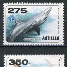 Sellos: ANTILLAS HOLANDESAS 1998 IVERT 1149/50 *** AÑO INTERNACIONAL DEL OCEANO - FAUNA MARINA. Lote 117760783
