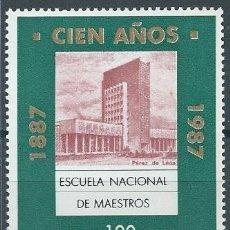 Sellos: AÑO 1987. MÉXICO. SCOTT 1473. MINT. CIEN AÑOS DE LA ESCUELA NACIONAL DE MAESTROS. CULTURA.. Lote 118533387