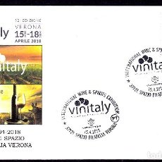 Sellos: ITALIA 2018 MATASELLO ESPECIAL VINITALY VINO BEBIDAS . Lote 120545375