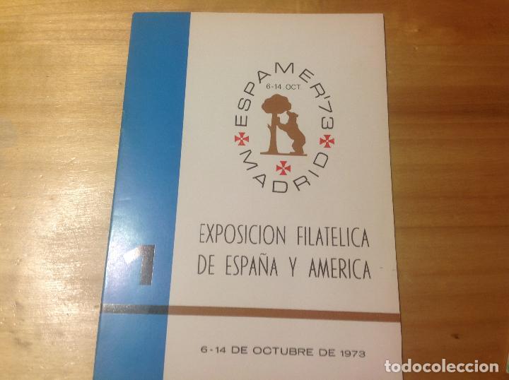 Sellos: ESPAMER 73 . EXPOSICION FILATÉLICA año 1973 . 4 LIBROS - CATÁLOGOS - BOLETIN - Foto 2 - 123910475