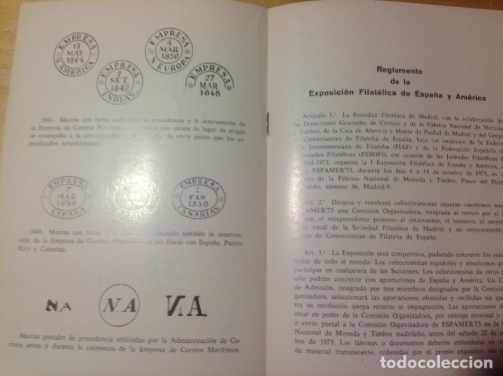 Sellos: ESPAMER 73 . EXPOSICION FILATÉLICA año 1973 . 4 LIBROS - CATÁLOGOS - BOLETIN - Foto 3 - 123910475
