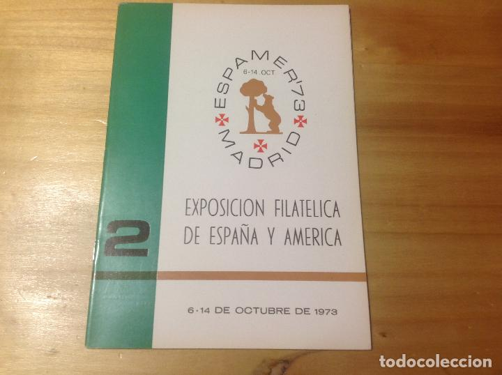 Sellos: ESPAMER 73 . EXPOSICION FILATÉLICA año 1973 . 4 LIBROS - CATÁLOGOS - BOLETIN - Foto 4 - 123910475