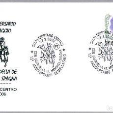 Sellos: MATASELLOS HERMANAMIENTO CON CIUTADELLA DE MENORCA (BALEARES). ORISTANO, ITALIA. Lote 125127927