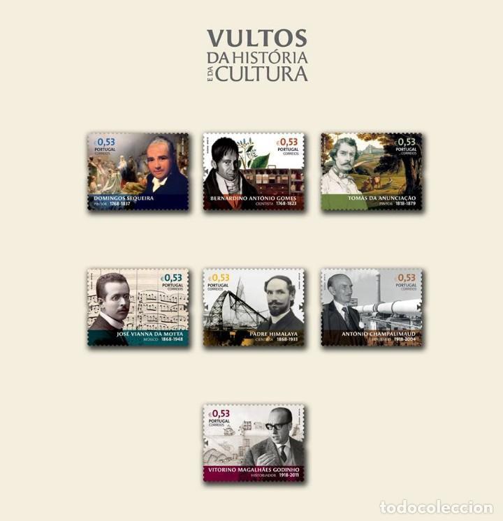 PORTUGAL ** & VULTOS DE LA HISTORIA Y LA CULTURA 2018 (5707) (Sellos - Temáticas - Varias)