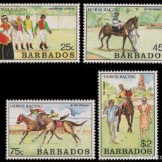 Sellos: BARBADOS 1990 - CABALLOS - YVERT Nº 772-775**. Lote 128566067