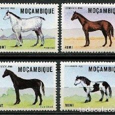 Sellos: MOZAMBIQUE 1988 - CABALLOS - YVERT Nº 1006-1009**. Lote 128566475