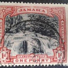 Sellos: JAMAICA,COLONIA BRITÁNICA,1900,CASCADAS DE LLANDOVERY,YVERT 32,SCOTT 32,USADO,(LOTE AG). Lote 128696887