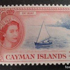 Sellos: CAYMAN ISLANDS,ISLAS CAIMAN,COLONIA BRITÁNICA,1953-1959,ISABEL II,YVERT 140**,SCOTT 135**,(LOTE AG). Lote 128700543