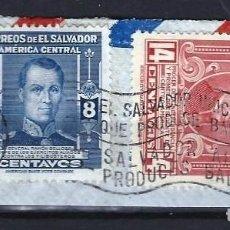 Sellos: EL SALVADOR - SELLOS USADOS SOBRE PAPEL. Lote 131620310