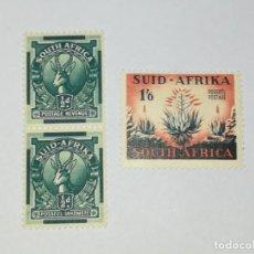 Sellos: LOTE 3 SELLOS NUEVOS SUID AFRIKA SIN SOBRE ESTAMPADO SIN MATASELLOS LOTE 016. Lote 132213414