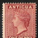Sellos: 1872 ANTIGUA VICTORIA QUEEN ONE PENNY SG. 14* ALTO VALOR FILATÉLICO. Lote 133309882