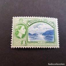 Sellos: TRINIDAD Y TOBAGO,1953,ISABEL II Y VISTAS,SCOTT 72*,NUEVO,SEÑAL FIJASELLO,(LOTE AG). Lote 134067682