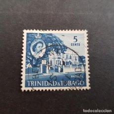 Sellos: TRINIDAD Y TOBAGO,1960,ISABEL II Y VISTAS,SCOTT 91,USADO,(LOTE AG). Lote 134076362