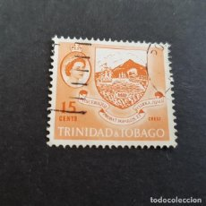Sellos: TRINIDAD Y TOBAGO,1960,ISABEL II Y VISTAS,SCOTT 96,USADO,(LOTE AG). Lote 134076806