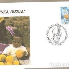 Sellos: GUINÉ BISSAU & FDC VISITA DE SU SANTIDAD EL PAPA JUAN PABLO II, BISSAU 1990 (5777). Lote 134837162