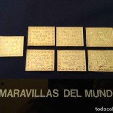 Sellos: COLECCION SELLOS DE PLATA, MARAVILLAS DEL MUNDO, CON ESPOSITOR DE METRAQUILATO.. Lote 138596290