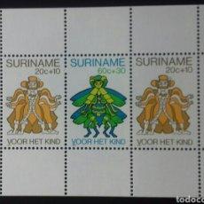 Sellos: HOJA BLOQUE DE SURINAM PRO INFANCIA 1980. Lote 139775492