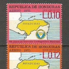 Sellos: HONDURAS CORREO AEREO YVERT NUM. 493/494 ** SERIE COMPLETA SIN FIJASELLOS. Lote 139968006