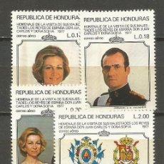 Sellos: HONDURAS CORREO AEREO YVERT NUM. 573/576 ** SERIE COMPLETA VISITA DE LOS REYES DE ESPAÑA. Lote 139968170