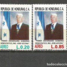 Sellos: HONDURAS CORREO AEREO YVERT NUM. 708/709 ** SERIE COMPLETA SIN FIJASELLOS . Lote 139968530