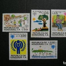 Sellos: HONDURAS-1979-Y&T PA 636/9**(MLH)-A 10%. Lote 140460782
