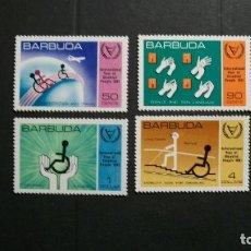 Sellos: BARBUDA-1981-Y&T 545/8**(MLH)-A 10%. Lote 140463754