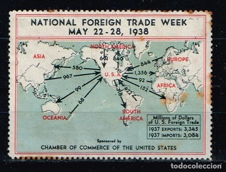 SELLO 'NATIONAL FOREIGN TRADE WEEK 1938' (Sellos - Extranjero - América - Otros paises)