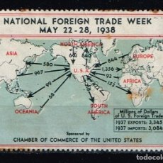 Sellos: SELLO 'NATIONAL FOREIGN TRADE WEEK 1938'. Lote 143224706
