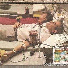 Sellos: SUDÁFRICA & MAXI, DONACIÓN DE SANGRE, PRETORIA 1986 (682). Lote 143888642