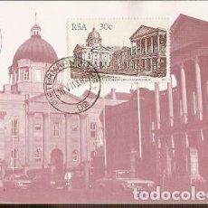 Sellos: SUDÁFRICA & MAXI, EDIFICIOS HISTÓRICOS, MONUMENTOS NACIONALES, PIETERMARITZBURG 1982 (518). Lote 143890602