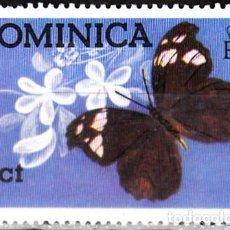 Sellos: 1975 - DOMINICA - MARIPOSAS - MYSCELIA ANTHOLIA - YVERT 420. Lote 144304450