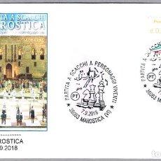 Sellos: MATASELLOS PARTIDA AJEDREZ VIVIENTE 2018. MAROSTICA, ITALIA. Lote 145155846
