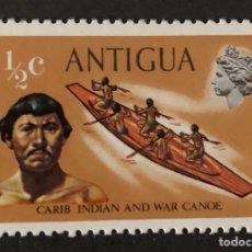 Sellos: SELLO NUEVO DE ANTIGUA 1/2C- CANOA DEL CARIBE **. Lote 147276480