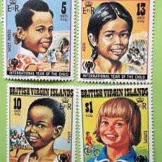 Sellos: ISLAS VIRGENES. 364/67 AÑO INTERNACIONAL DEL NIÑO. NIÑOS JUGANDO. 1979. SELLOS NUEVOS Y NUMERACIÓN Y. Lote 147354538