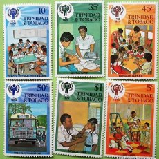 Sellos: TRINIDAD TOBAGO. 390/95 AÑO INTERNACIONAL DEL NIÑO. NIÑOS JUGANDO. 1979. . SELLOS NUEVOS Y NUMERACI. Lote 147354574