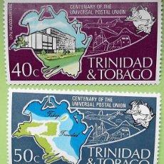 Sellos: TRINIDAD TOBAGO. 332/33 CENTENARIO UPU. 1974. SELLOS NUEVOS Y NUMERACIÓN YVERT.. Lote 147354582