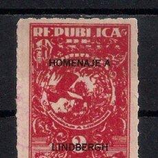 Sellos: PANAMA 1928 HOMENAJE A LINDBERGH 2 CENT. * MH - 9/31. Lote 147582290