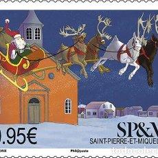 Sellos: SAINT PIERRE & MIQUELON 2018 - LE TRAINEAU DU PÈRE NOËL MNH. Lote 147645266