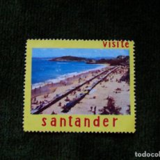 Sellos: VIÑETA VISITE SANTANDER EL SARDINERO. Lote 147908162