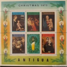 Sellos: HOJA BLOQUE ANTIGUA CHRISMAS 1973. Lote 148332993