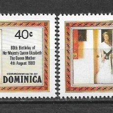 Sellos: DOMINICA 1980 SC 676-677 1.55 ** MNH - 7/16. Lote 148619730
