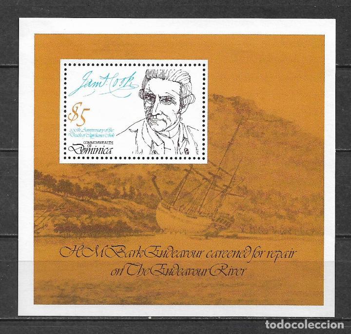 DOMINICA 1979 ** MNH - 200A MUERTE ANNIV. DEL CAPITÁN JAMES COOK -124 (Sellos - Extranjero - América - Otros paises)