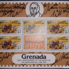Sellos: HOJA BLOQUE GRENADA LONDRES 1980. Lote 149604033