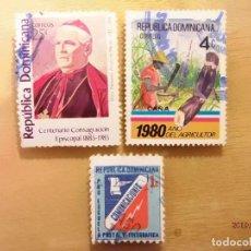 Sellos: REPÚBLICA DOMINICANA - LOTE DE 3 SELLOS - TEMA VARIOS.. Lote 150513286