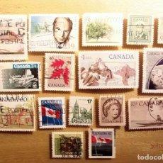 Sellos: CANADA - LOTE DE 16 SELLOS - TEMA VARIOS.. Lote 150513610