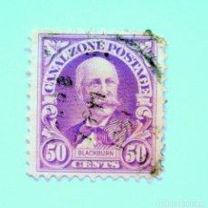 Sellos: SELLO POSTAL CANAL ZONE 1929 , 50 C , J.C.S. BLACKBURN , USADO. Lote 150786902